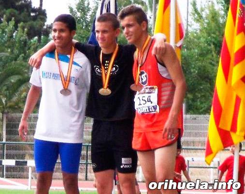 Rodolfo Gil Medalla de Plata en el Campeonato de España de Atletismo Cadete