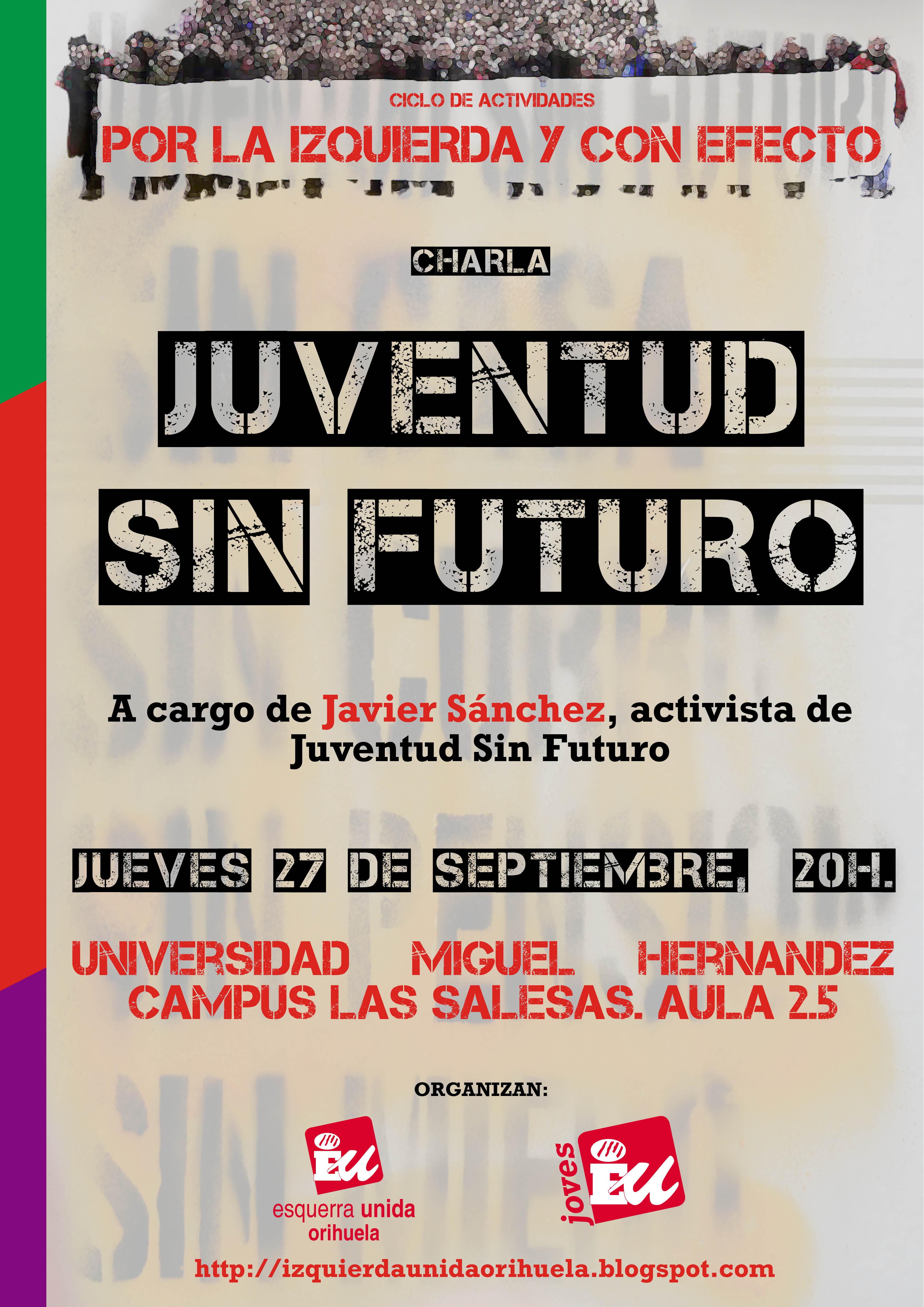 IU organiza una charla sobre Juventud Sin Futuro