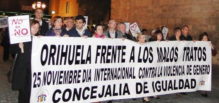 Orihuela recoge 157 casos de violencia de género