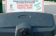 El Ayuntamiento de Bigastro instala papeleras con dispensadores de bolsas para excrementos de mascotas