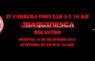 El domingo tendrá lugar la IV edición de la carrera Joaquinesca de Bigastro