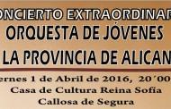 La Orquesta de jóvenes de la Provincia de Alicante ofrecerá un concierto extraordinario mañana en Callosa
