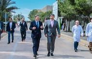 Ximo Puig visitó hoy el ayuntamiento de Guardamar y la fábrica de Johnsson Controls