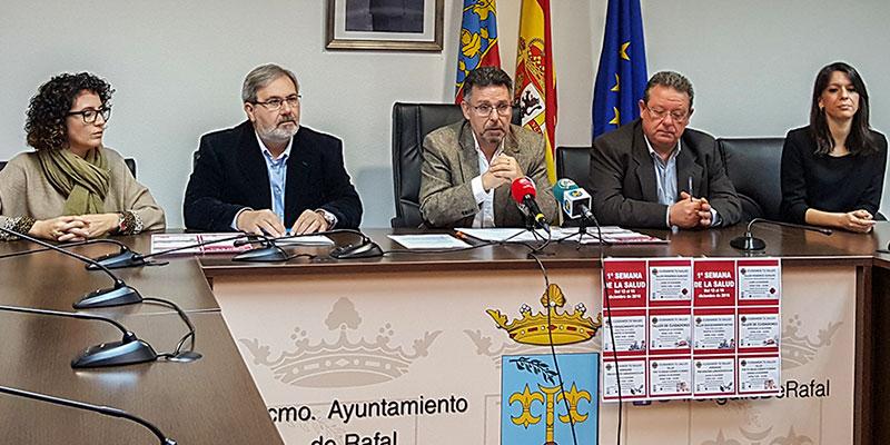 Rafal acoge la primera semana de la salud tras firmar un convenio de colaboración con la Universidad CEU Cardenal Herrera