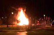 Arde un parque infantil de Redován en la noche de Reyes