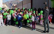 Los niños del colegio Nuestra Señora del Pilar en la Campaneta corrieron hoy