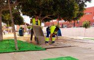 El Ayuntamiento mejora la imagen del parque José Nieto y La Pedrera para acondicionar el recorrido de la próxima Romería de San Isidro