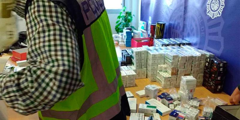 Arrestan al propietario de una tienda oriolana por vender medicamentos falsos
