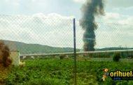 Importante incendio en una nave en Arneva
