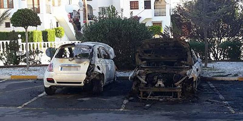 Queman los coches particulares de 3 policías de Orihuela