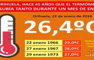 """Meteorología: """"Primavera en enero"""", por Pedro José Gómez de MeteOrihuela"""