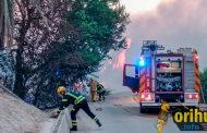 El fuego arrasa un cañaveral en la Vereda del Transformador de Molins